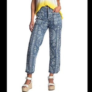 NWT Free People Island Vibes Trouser Ankle Jeans